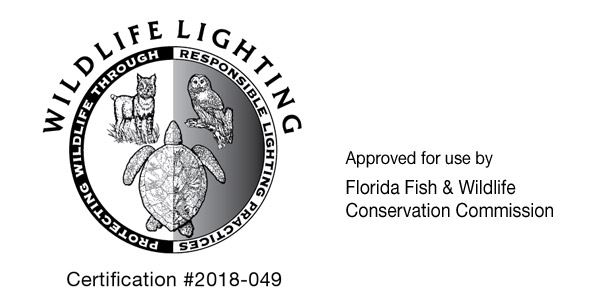 wildlife certification sticker - sea turtle lighting